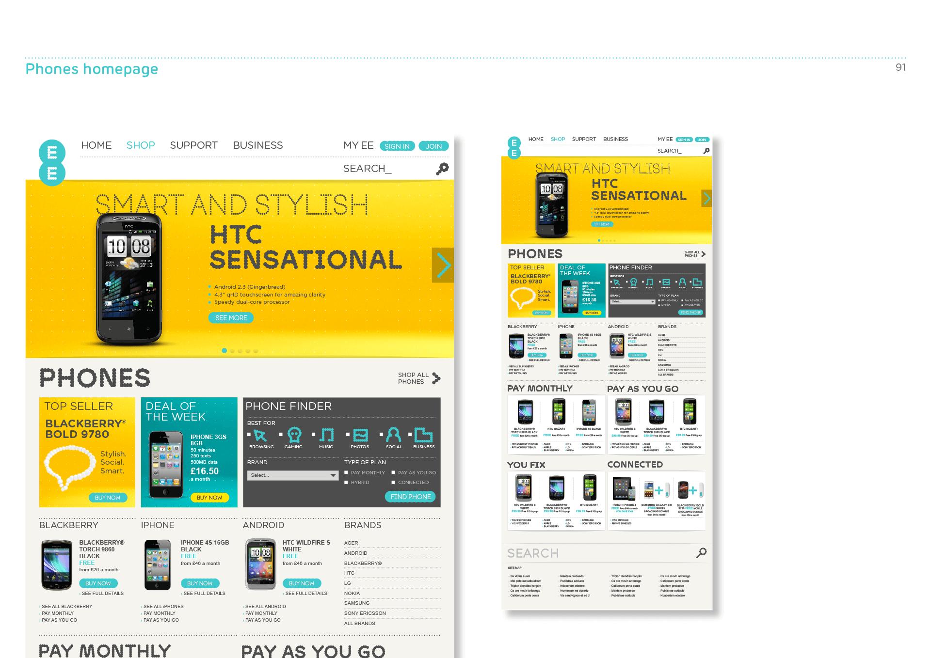 EE site design